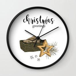 Christmas composition Wall Clock