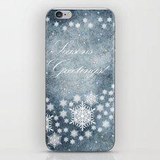 Season's Greetings iPhone & iPod Skin