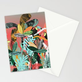 Sunset in the jungle Stationery Cards