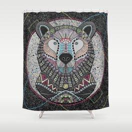 Neon Tribal Bear Shower Curtain
