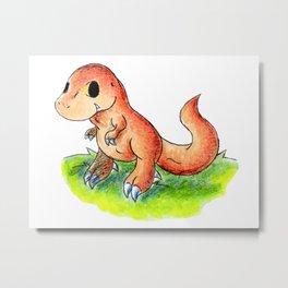 Little Rex Metal Print