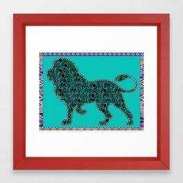 Live, Love, Lion Framed Art Print