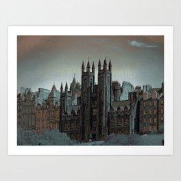 The Mound Edinburgh Art Print