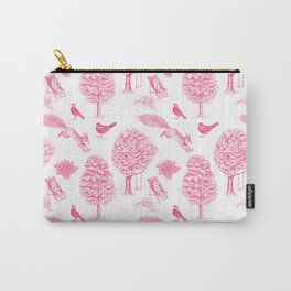 A Girl Reading in the Garden (White and Pink) Carry-All Pouch