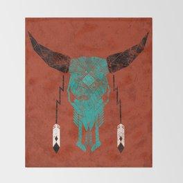 Southwest Skull Throw Blanket