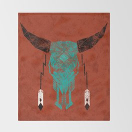 Southwest Skull Throw Blanket
