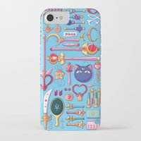 arsenal iPhone & iPod Cases featuring Magical Arsenal Blue by Paulina Ganucheau
