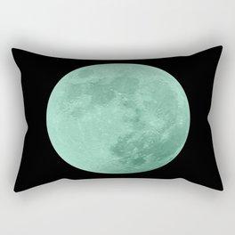 TEAL MOON // BLACK SKY Rectangular Pillow