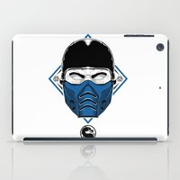 the mortal instruments iPad Cases featuring Sub Zero - Mortal X by offbeatzombie
