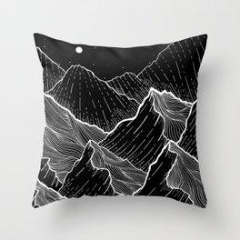 Sea mountains Throw Pillow