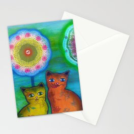 Cats and Trees Stationery Cards