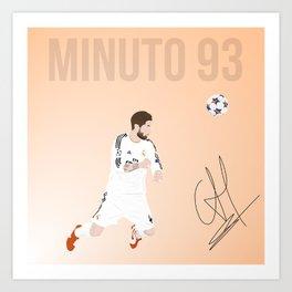 Sergio Ramos - Minuto 93 Art Print