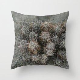 Monochrome Cactus in Joshua Tree National Park, California Throw Pillow