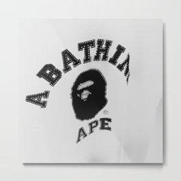 Rhinestone Ape Metal Print