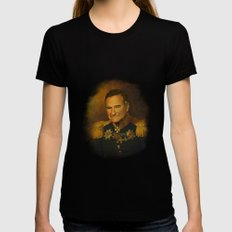 Robin Williams - replaceface X-LARGE Womens Fitted Tee Black
