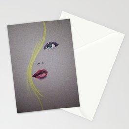 Blond Nose Eyes Lips Stationery Cards