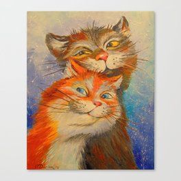 Lovers seals Canvas Print