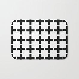 White Plus Black - Geometric illustration Bath Mat