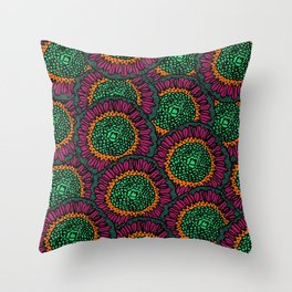 Flower Power 2 Throw Pillow