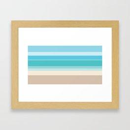 Linear Beach Framed Art Print