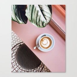 pink latte Canvas Print