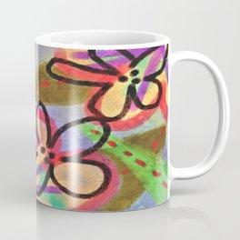 Wild Flowerz Abstrat Digital Painitng Coffee Mug