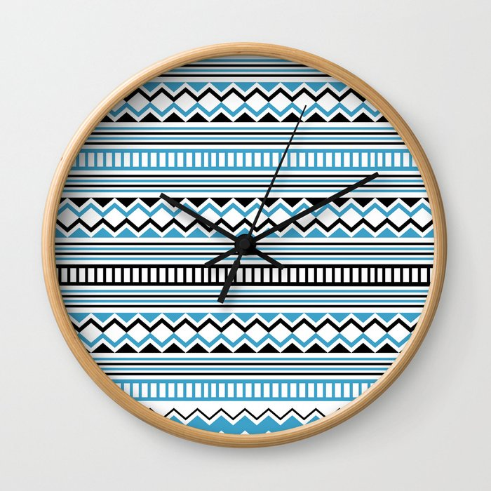 Tribal Scarf Wall Clock