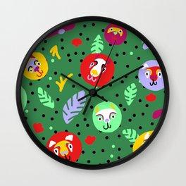 Jungle Baby Wall Clock