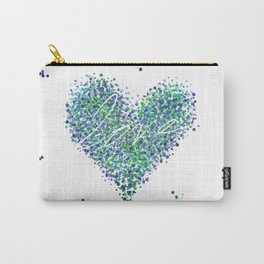 Love is Blue-Green Colorblind Carry-All Pouch