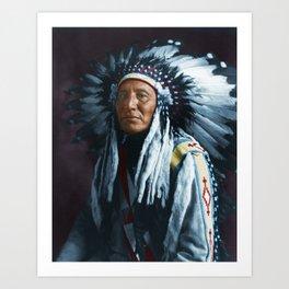 American Indian Chief Art Print
