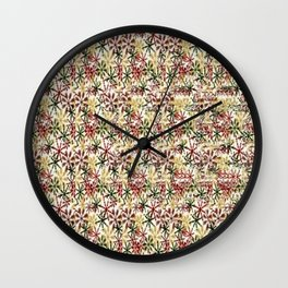 Snowflakes Stereogram Wall Clock