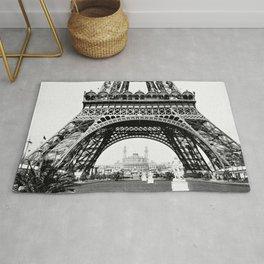 Vintage Eiffel Tower Photograph Rug