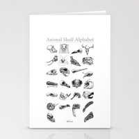 animal skull Stationery Cards featuring Animal Skull Alphabet by Stephan Brusche