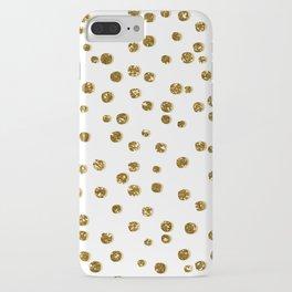 Gold Glitter Confetti iPhone Case