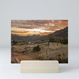 Three Guns Spring Trail outside of Albuquerque, New Mexico Mini Art Print