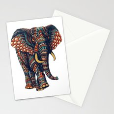 Ornate Elephant v2 (Color Version) Stationery Cards