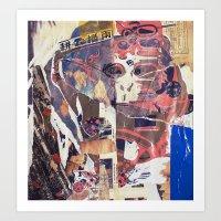 monkey Art Prints featuring monkey by echo3005