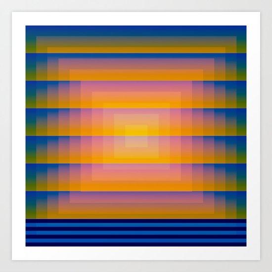 Gradient Fades v.1 Art Print