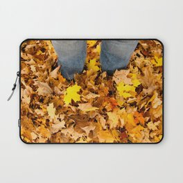 Stand in the Leaves Laptop Sleeve