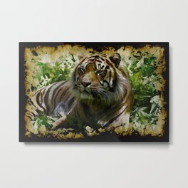 Relaxation - Wild Tiger Metal Print