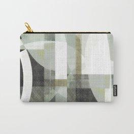 sage green art, sage green, boho art, mid century modern, geometric art, geometric print, abstract Carry-All Pouch