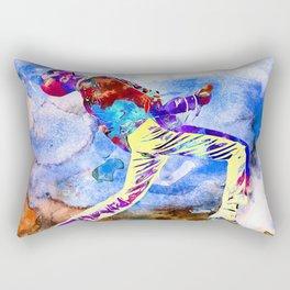 Freddie Painting Rectangular Pillow