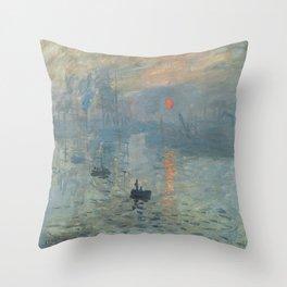 Claude Monet's Impression, Soleil Levant Throw Pillow