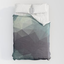 Polygon pattern . Triangles with a texture craquelure . 2 Comforters