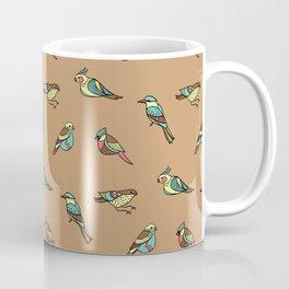 doodle birds - brown Coffee Mug