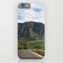 Mountain Road in Oahu, Hawaii iPhone Case