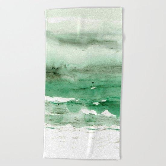 green & grey Beach Towel