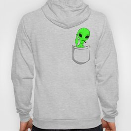 Alien in a pocket smoking weed / blunt Hoody