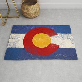 Colorado Flag Denver Rug
