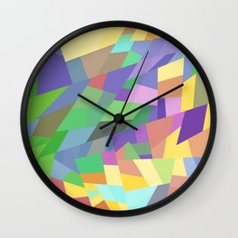 Abstract Geometric Colorful Art Gift Wall Clock